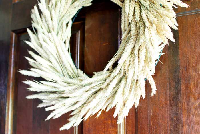 How to make the perfect rustic wheat wreath for your farmhouse style home.