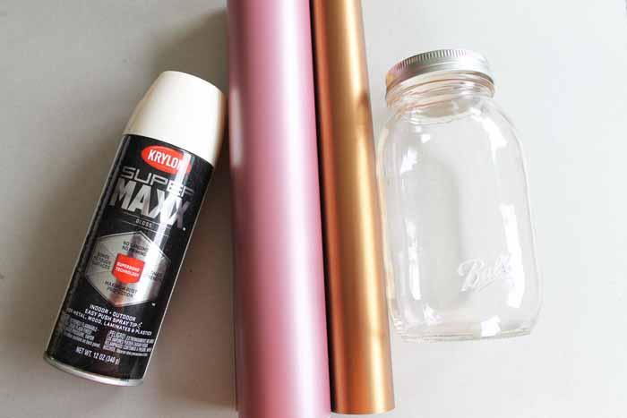 supplies to put vinyl on mason jars