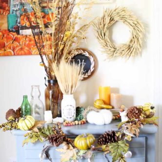 Fall Room Decor:  Adding Lights