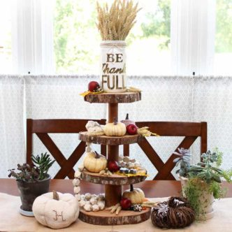 Three Tier Stand for Fall Decor