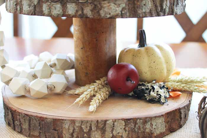 Decorate a three tier stand for fall in farmhouse style!