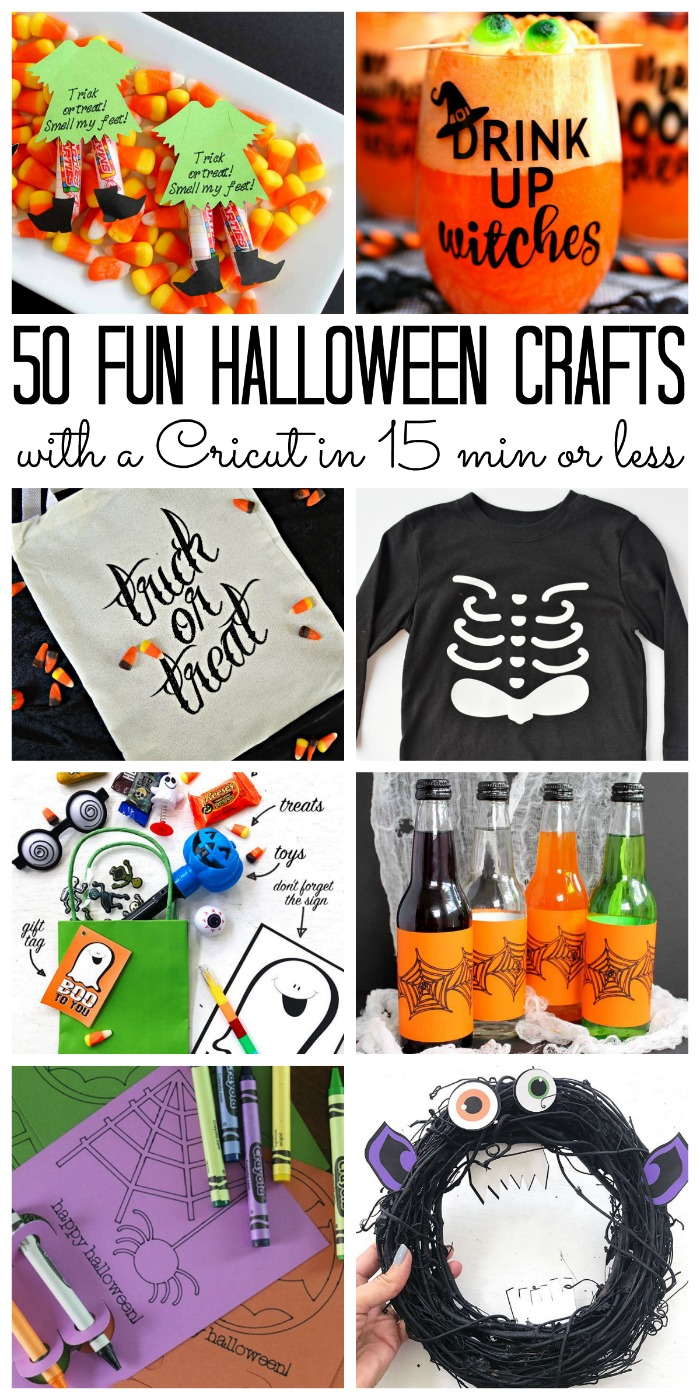 50 fun Halloween crafts to make with your Cricut in 15 minutes or less!