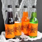 Make these Halloween bottle labels for your party! A fun way to serve up soda in a glass bottle!