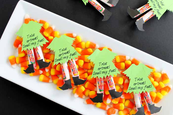 witch legs candy idea