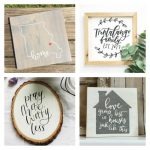 These hand lettered sign ideas are all less than $30! See them all here! Perfect for your farmhouse style home!