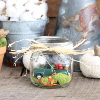 Indoor Fairy Garden:  A Fall Snow Globe