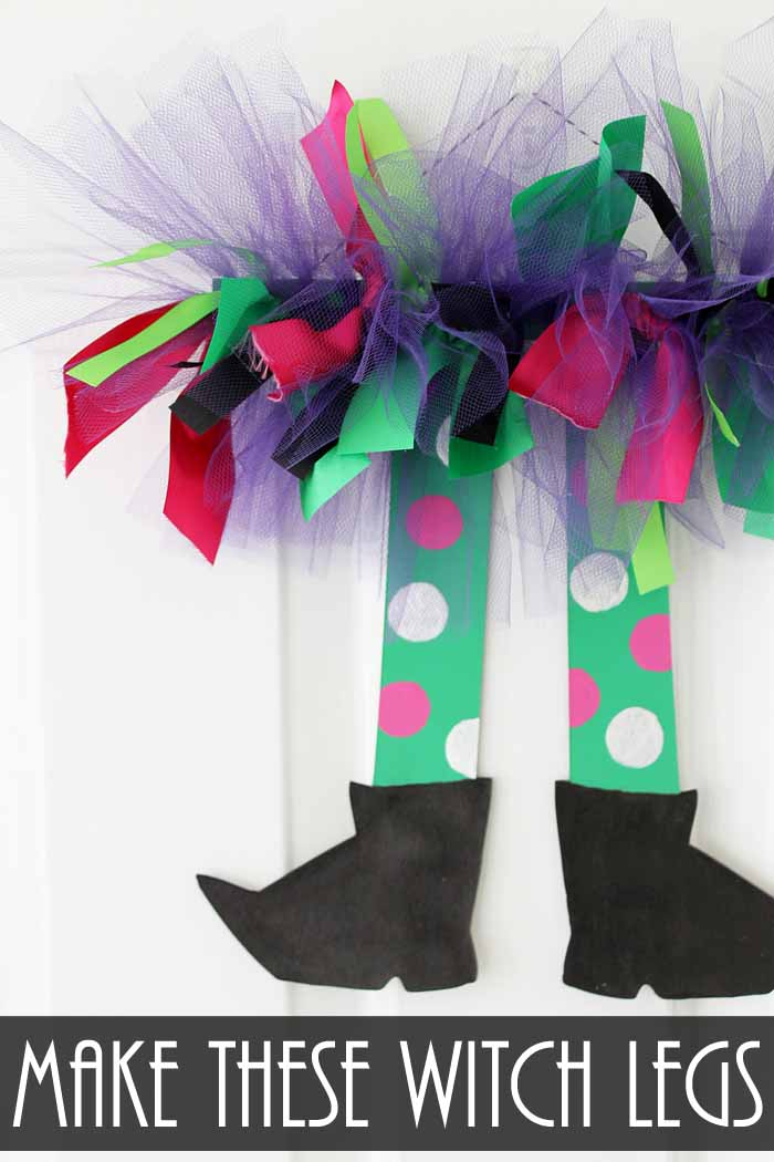 Make these witch legs for your Halloween decor in just minutes! A quick and easy Halloween decor project!