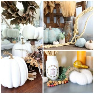 Give these pumpkin decor ideas a try in your farmhouse style home!