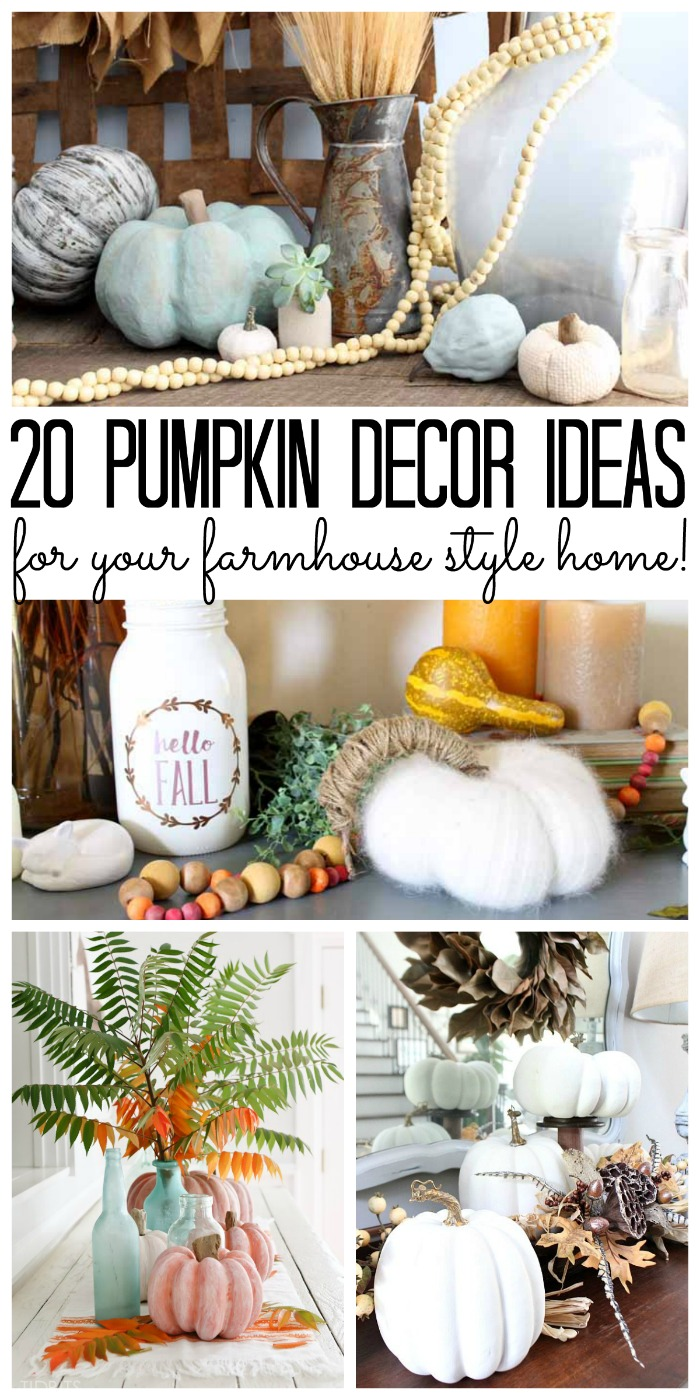 20 pumpkin decor ideas collage