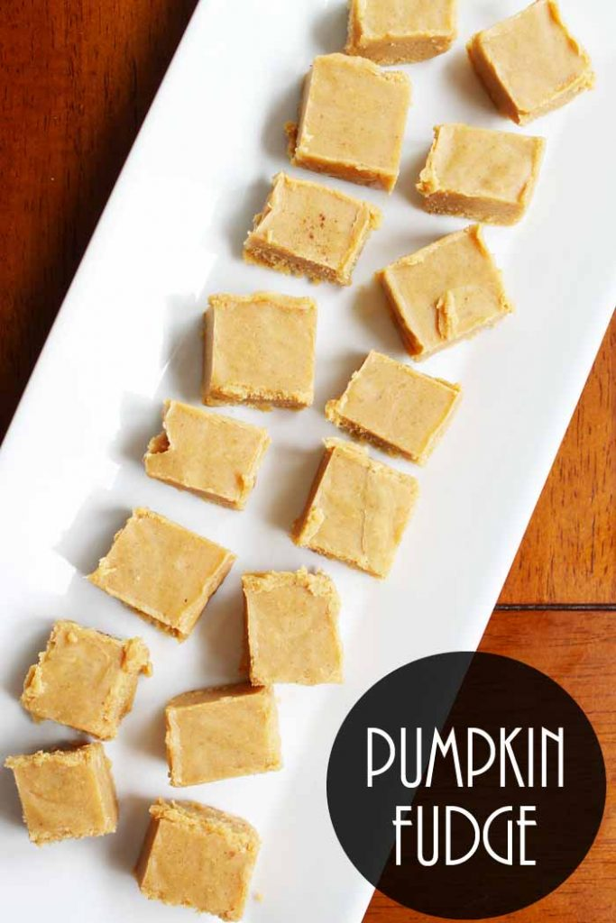 pumpkin fudge Pinterest image