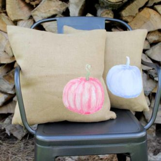 Pumpkin Pillow:  Make Your Own in Minutes