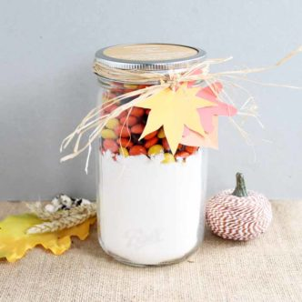 Reese's Pieces Cookies:  Gift in a Jar