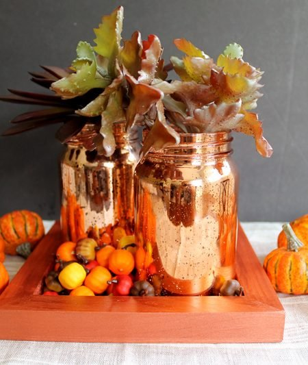 Table centerpieces for home - perfect for fall! Grab your mason jars and make this one today!