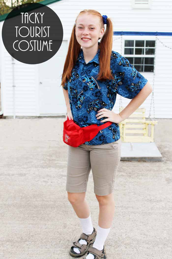 Make this tacky tourist costume for Halloween in just minutes!