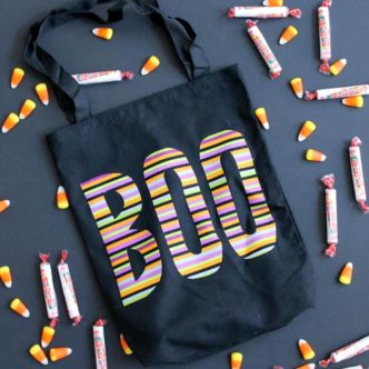 Make this trick or treat bag for your little one this Halloween! A quick and easy Halloween craft project!