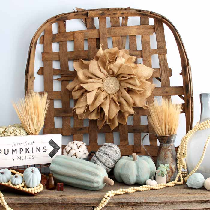 Make these vintage pumpkins in minutes with a super simple technique! Add these to your rustic, farmhouse style home!
