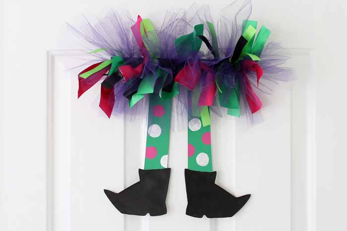 How to make fun Halloween witch legs in just a few minutes! A fun, unique decor idea