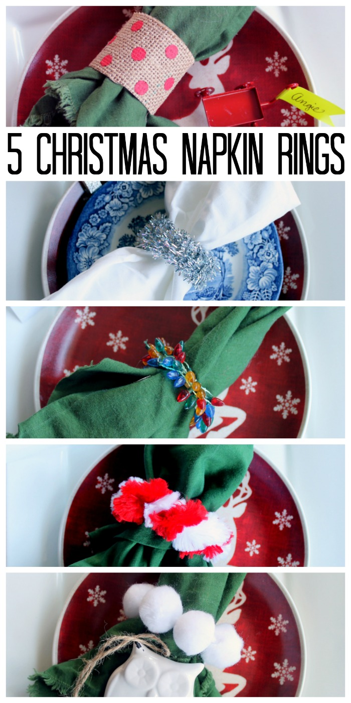 These 5 Christmas napkin rings are all easy to make and perfect for your holiday table!