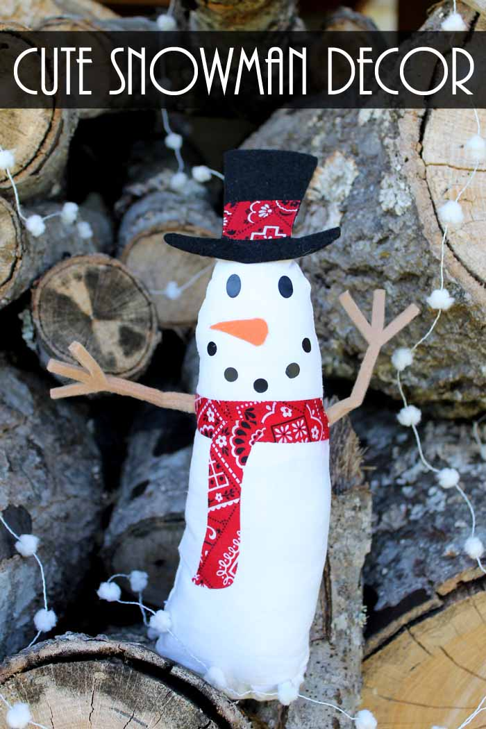 make an adorable snowman for your holiday and winter decor