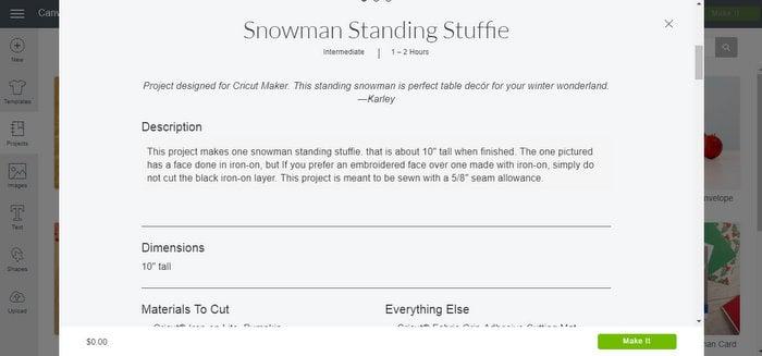 make a snowman standing stuff printed instructions