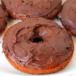 Make this easy baked donut recipe today! A chocolate cake donut everyone will love!