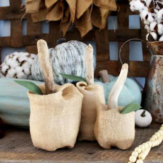 Fabric Pumpkins:  Make in 5 Minutes with Burlap