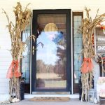 Fall porch decor with a farmhouse feel!
