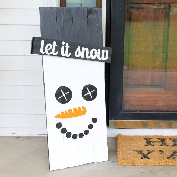 scarecrow snowman sign