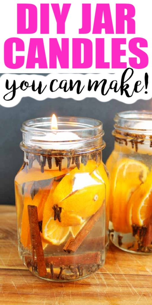 This easy way to make scented candles requires no special equipment or supplies! You will love how these smell and look around your home! #candles #jarcandles #masonjar