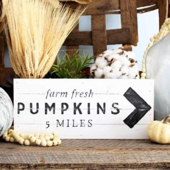 Pumpkin Patch Sign:  An Easy DIY Idea