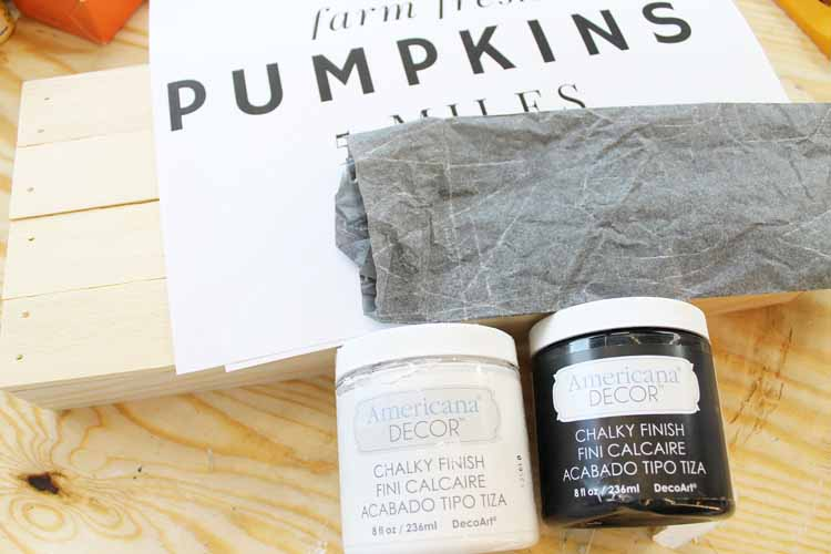 supplies to make a fall sign