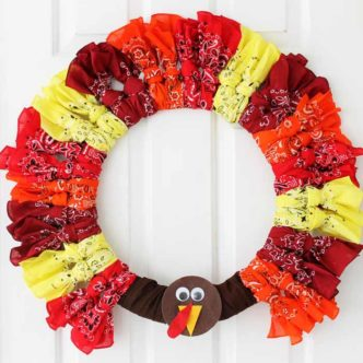 Thanksgiving Wreaths:  Make a Turkey Wreath