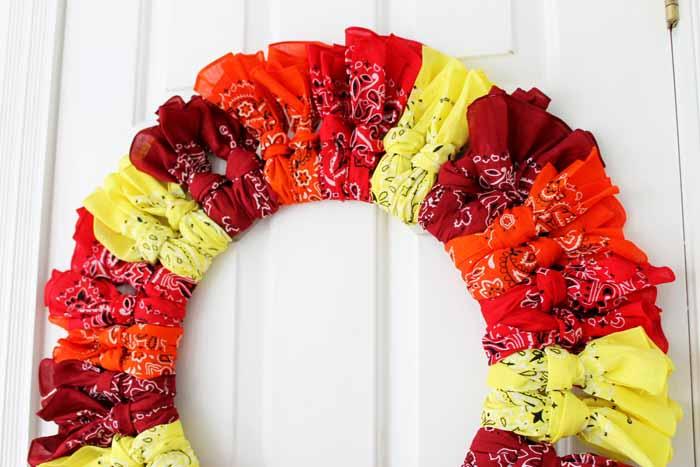 fall bandanna wreath