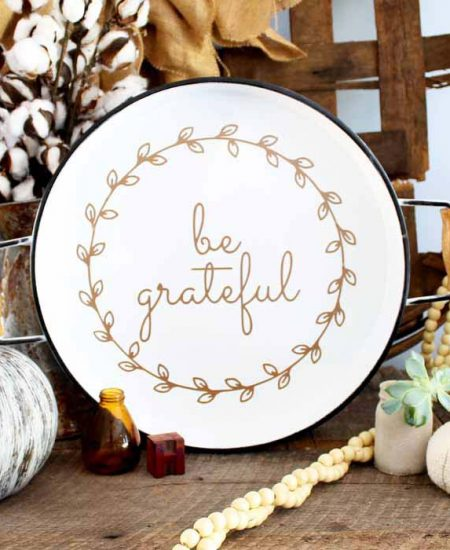 ideas to decorate a tray with a cricut