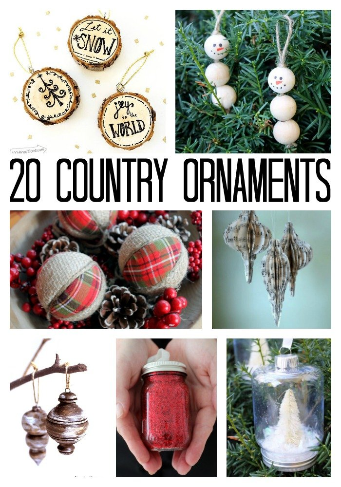 make these country christmas ornaments for your tree - Country Christmas Decorations