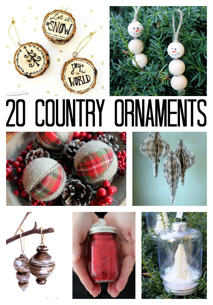 make these country christmas ornaments for your tree