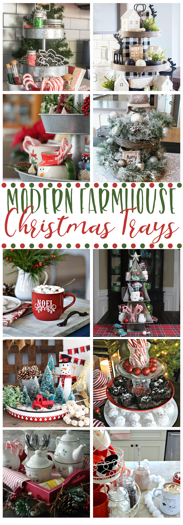 Christmas tray ideas with farmhouse style for your holiday home!