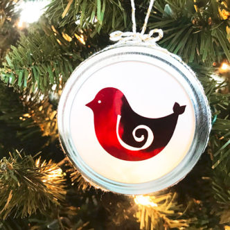 How to Make Pretty Christmas Bird Ornaments Quick