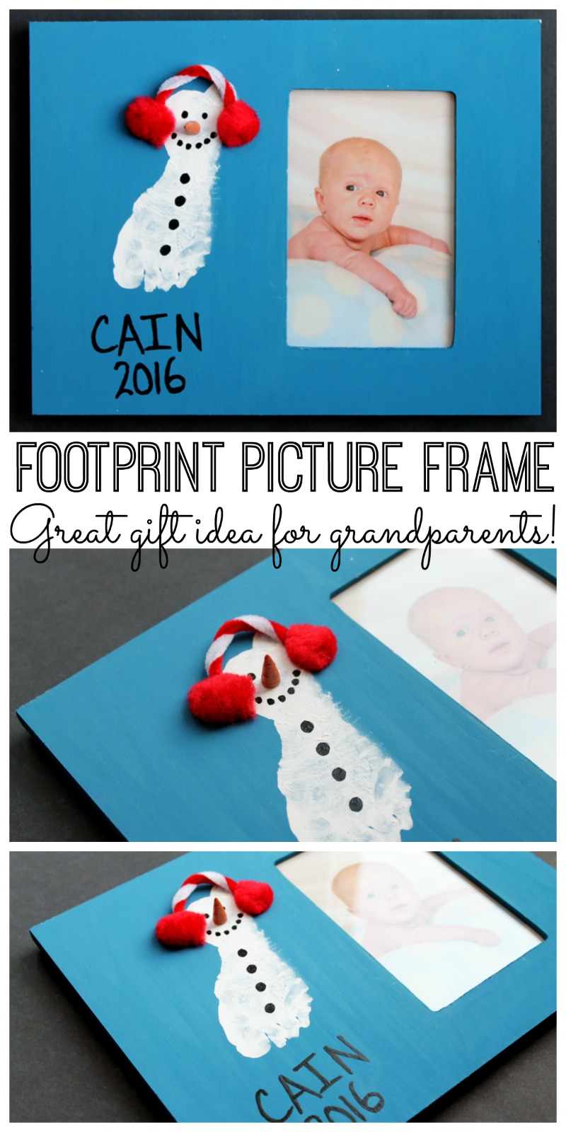 baby photo frames with a footprint