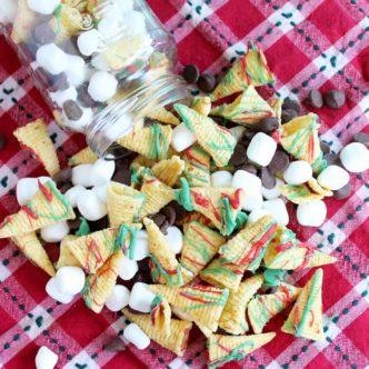 Christmas Crunch Snack Mix Recipe