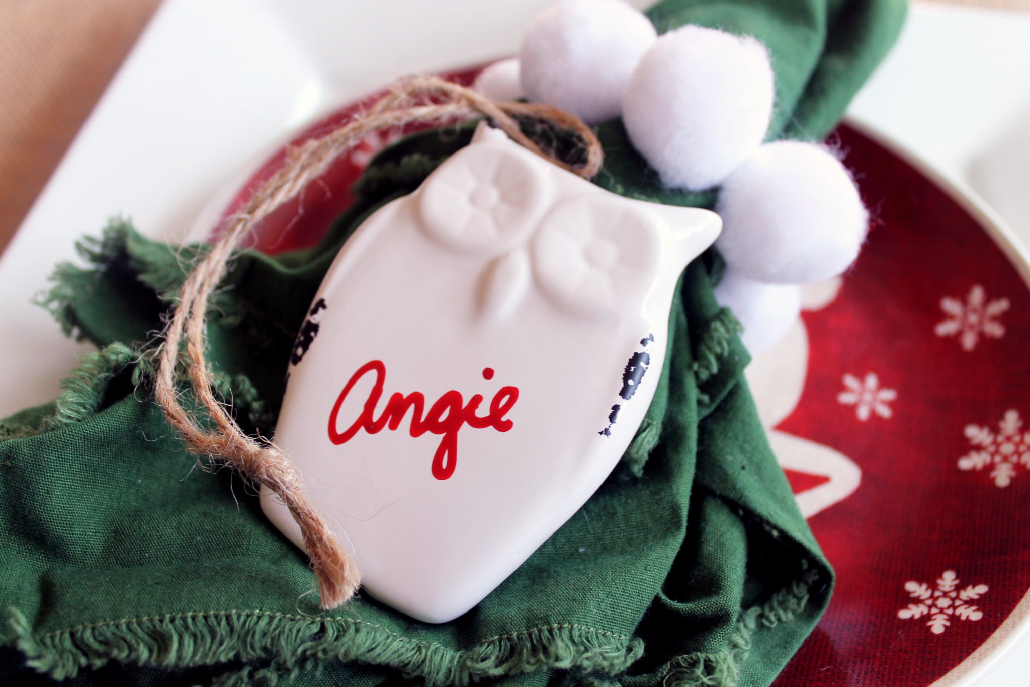 Make a Christmas placecard with these 5 ideas. An idea for every holiday table!