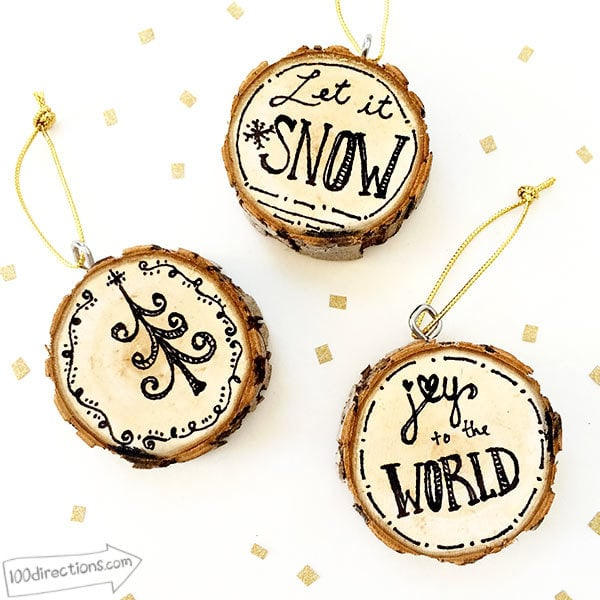 Make these country Christmas ornaments for your tree!