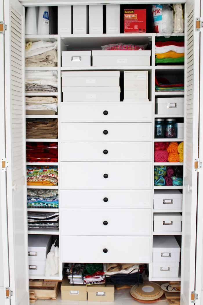 Craft closet: Walk through the design and installation process of a custom craft closet that will blow your mind!