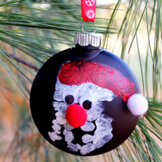 Handprint Ornament:  An Easy Craft with Kids