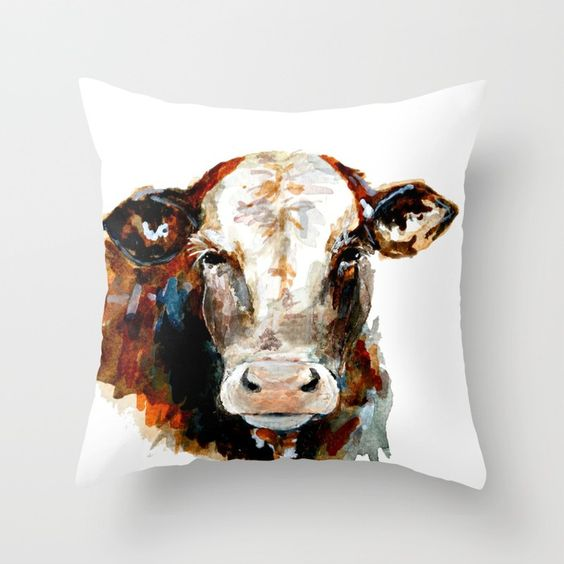 This cow pillow would make a great gift for the holidays!
