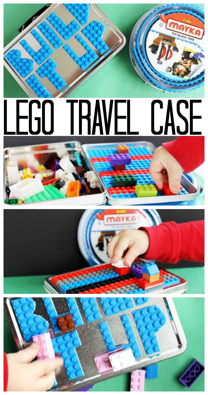 Make this Lego travel case as a handmade gift this holiday season! Quick, easy, and adorable!