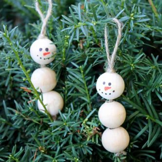 Snowman Decorations:  Make These in 5 Minutes!