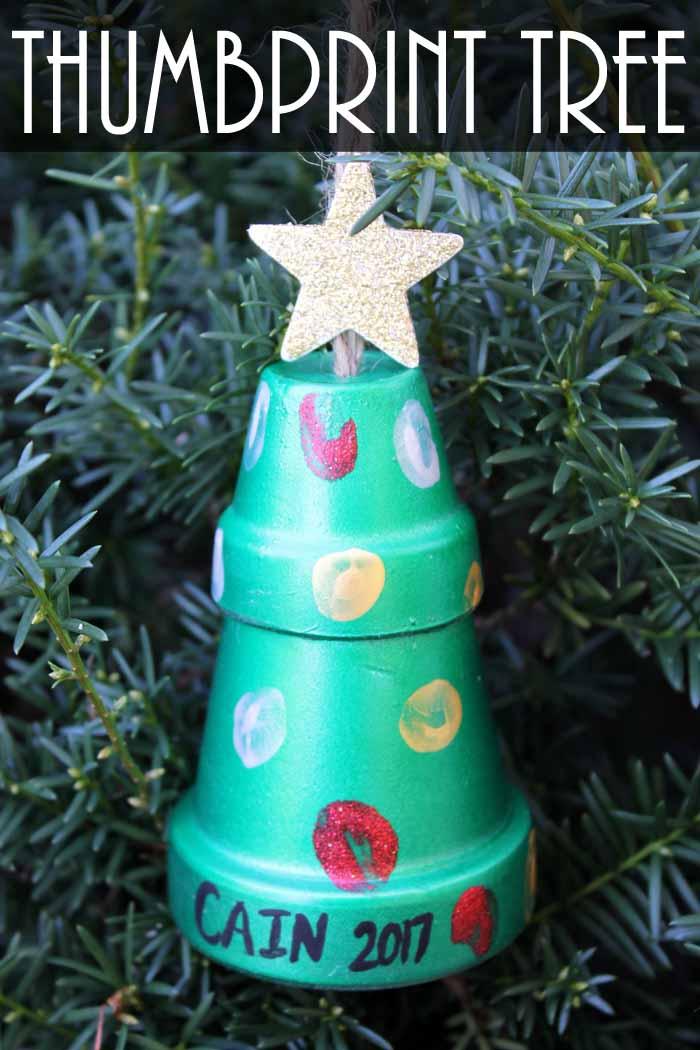 thumbprint art for your christmas tree