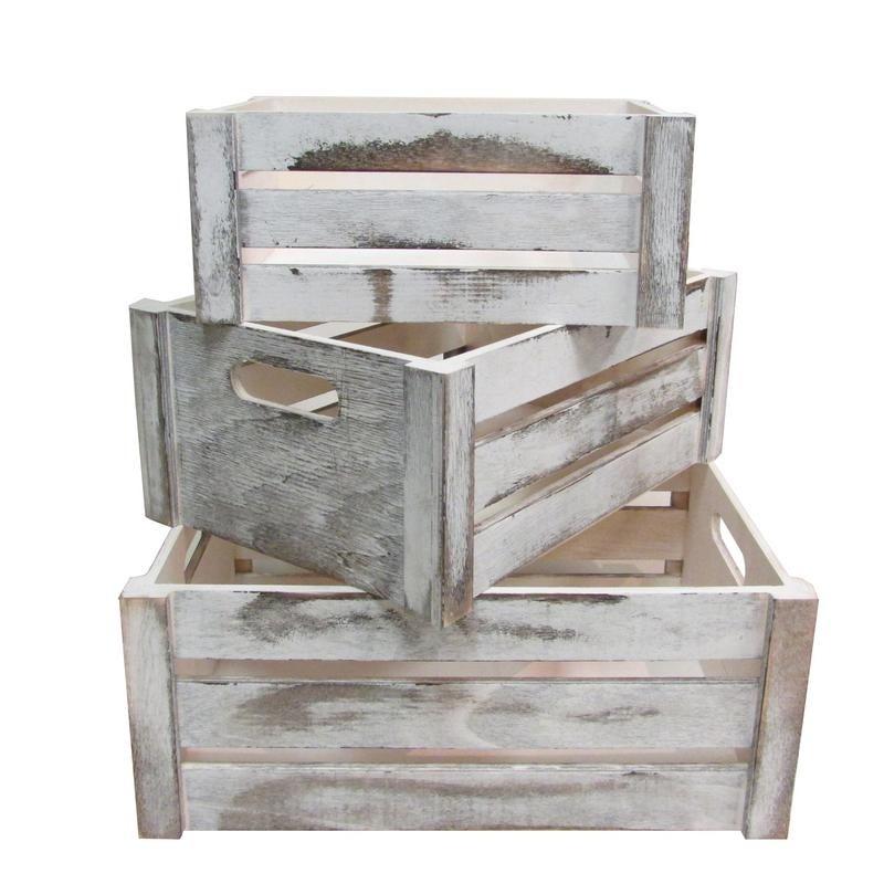 distressed wood crates