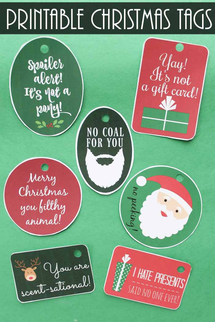printable funny gift tags